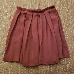 Forever 21 Burnt Orange Pleated Mini Skirt